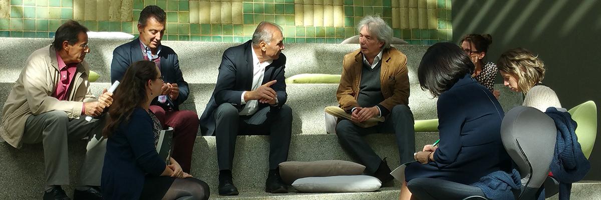 Conférence de presse de l'architecte Bernard Desmoulin