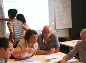 Atelier lors de la formation : les bases de l'urbanisme