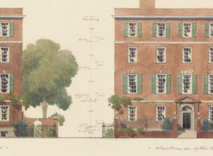 Drawing, Rendering of One Sutton Place, New York City, 1921