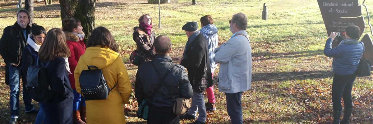 Visite du cimetière naturel de Souché à Niort, formation proposée en 2016