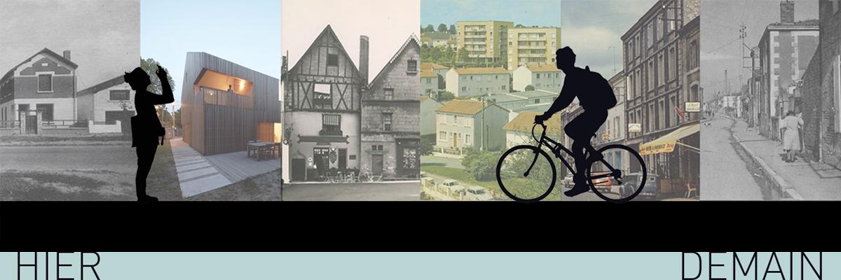 Bandeau avec des maisons de différentes époques
